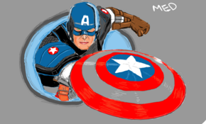 sketch #5127 Captain America by Mark Phillips