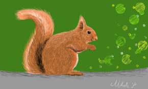 sketch 5094 Squirrel by Mehdi Público