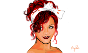 sketch 5197 Rihanna by Ben Hall