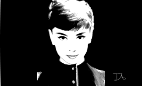 sketch 5179 Audrey Hepburn by 陳一夫