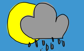 sketch #80 Sunshine and showers
