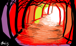 sketch 342 Forest scene