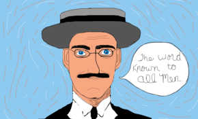 sketch #1490 James Joyce....