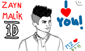 sketch 2460 Zayn Malik of One Direction by sketchmaster