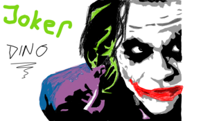 sketch 2892 Joker by Frank Aguiar Au