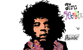 sketch 3431 Jimi Hendrix by Konvicted Rohit