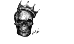 sketch #3608 Skeleton king by Thania Arruda