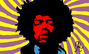 sketch 4493 Jimi Hendrix by Alex Stoun