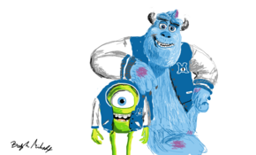 sketch #4882 Monsters University by John Davis