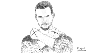 sketch #5085 CM Punk by Luciana Nazar