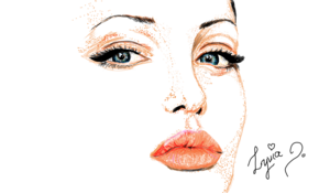 sketch #5054 Angelina Jolie by Hailey So Pretty