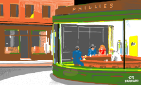 sketch #5059 Edward Hopper&#;s &#;Nighthawks&#; by Rosanne Zammit