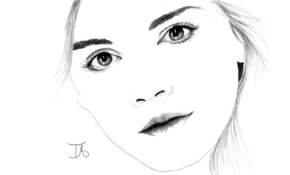 sketch #5361 Emma Watson by Glynis June Williams