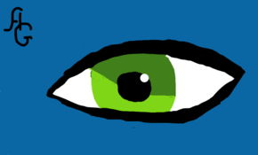 sketch #5386 Green Eye