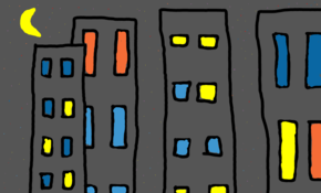 sketch #54065 buildings at nighttime