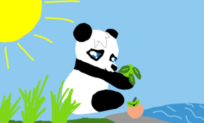 sketch #64756 its me kaykay2 and i have this baby panda painting to show you guys hope you like it :)