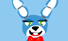 sketch #64766 this painting is a five nights at Freddy 's animatronic known as toy bonnie