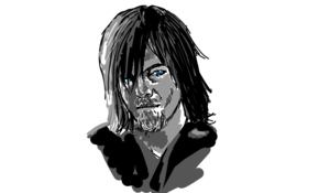 sketch #56495 Daryl Dixon from the Walking Dead