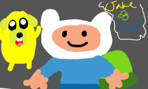 sketch #72093 jake and finn from adventure time