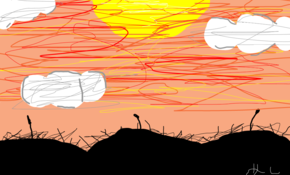 sketch #15161 summer sunset