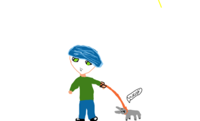 sketch #88001 Dantdm and a baboo Huskey!!