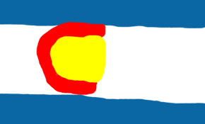 sketch #91745 Colorado flag