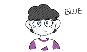 sketch #101063 blue, a homestuck kid oc