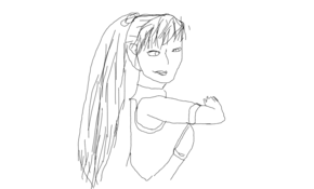 sketch 109740 poorly drawing kasumi from doa5 with a mouse