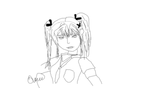 sketch #109783 drawing marie rose from doa5 with a crappy mouse