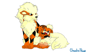 sketch 5113 Growlithe and Arcanine by Kervinzitho del Piero