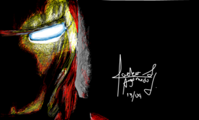 sketch 5169 Iron Man by Hannah Kellogg