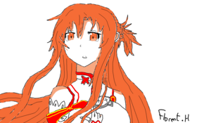 sketch 2476 Asuna from SAO by sketchmaster