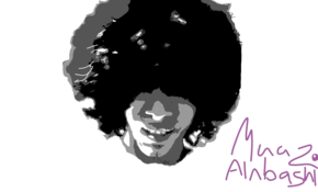 sketch #2459 funky afro