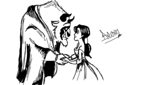 sketch #2608 Beauty and the Beast by sketchmaster