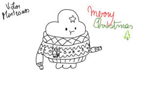 sketch 2772 Merry Christmas from Victor Montecinos  Jose Rondon