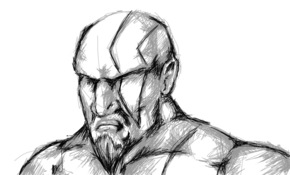 sketch #2765 Kratos by Nassim Nouri