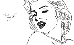 sketch 3058 Marilyn Monroe by Adam Pyszny