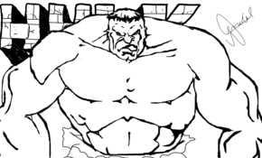 sketch #3127 Hulk  George Lucaz