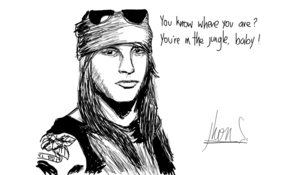 sketch #3166 Axl Rose by Jessie Lightwood
