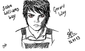 sketch #3350 Gerard Way by Carrieann Benthem