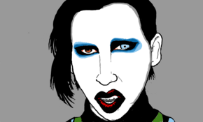 sketch #3774 Marilyn Manson by Junior Silva