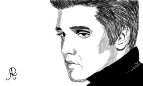 sketch 4682 Elvis Presley by Nassim Nouri