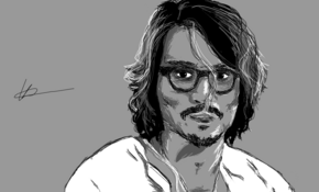 sketch 4867 Johnny Depp  Ronin Ronin