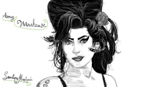 sketch #5040 Amy Winehouse by Timothy Palfreyman