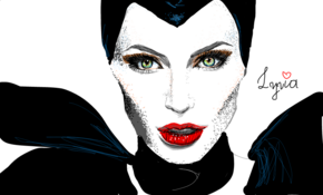 sketch #5324 Angelina Jolie - Maleficent by Lucas Fajardo